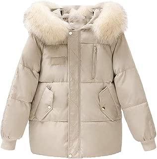Macondoo Womens Winter Jacket Hooded Cotton-Padded Outwear Warm Down Coat