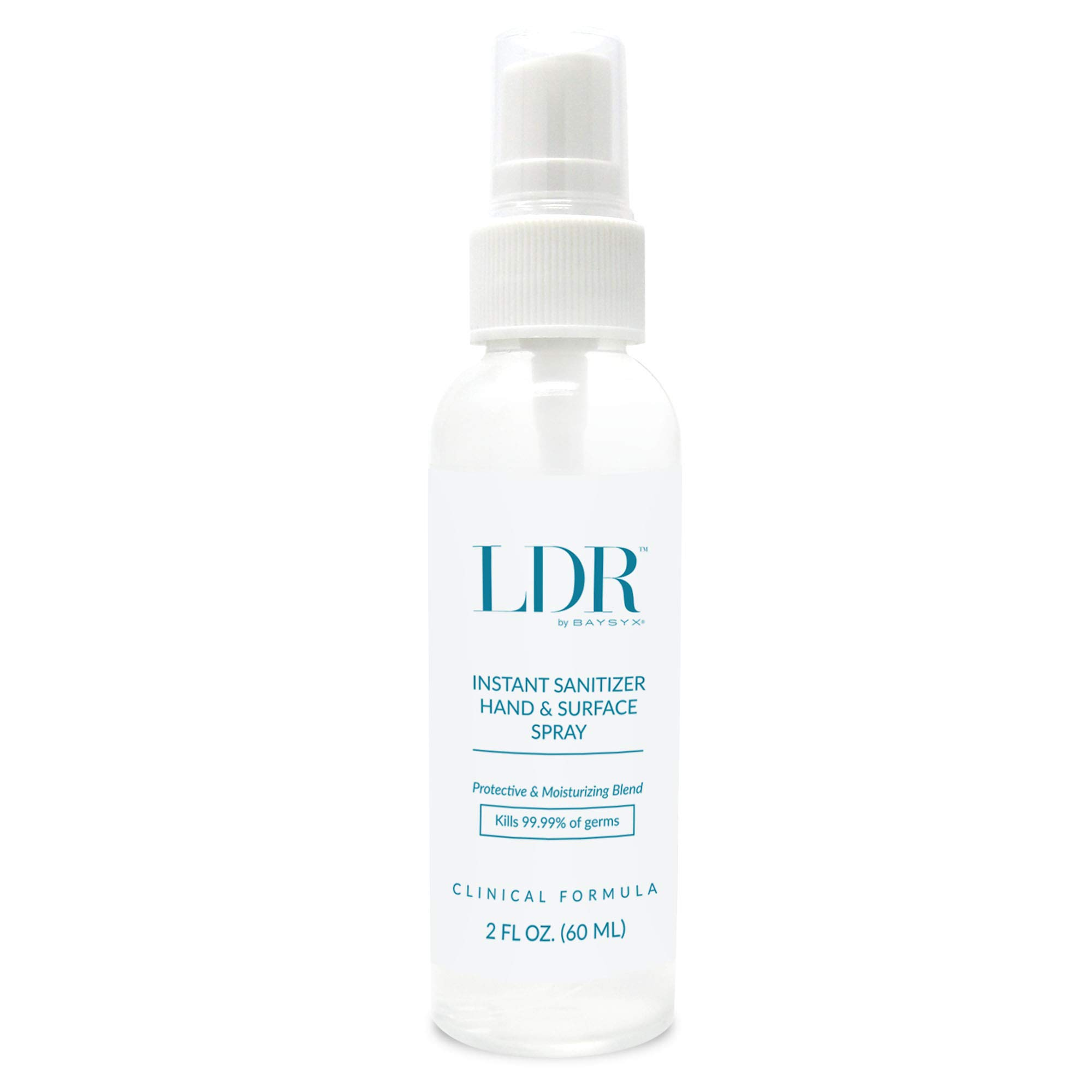 LDR Organic 72% Alcohol Hand Sanitizer Spray with Aloe Vera Moisturizing (60 Ml Bottle)   Made in USA   Fortified with…