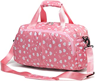 Small Gym Duffel Bag for Girls Women Overnight Travel Duffle for Weekend (Pink)