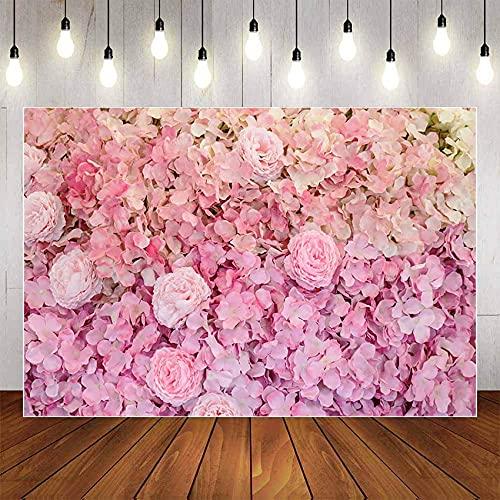 Fondo de fotografía de Tema de Flores de Rosa roja Rosa Baby Shower Boda Feliz cumpleaños Decorkdrop Photo Studio Props A12 9x6ft / 2.7x1.8m