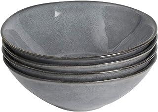 ProCook Malmo - Vaisselle de Table en Grès - 4 Pièces - Bol - 19cm - Gris Anthracite