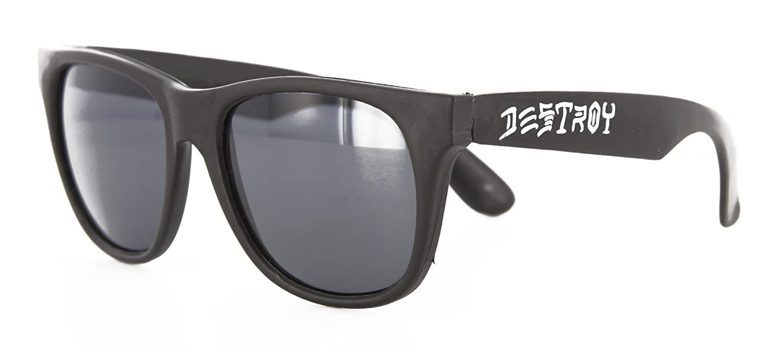 (スラッシャー)THRASHER MAGZINE サングラス 眼鏡 Skate And Destroy Sunglasses Black(ブラック)