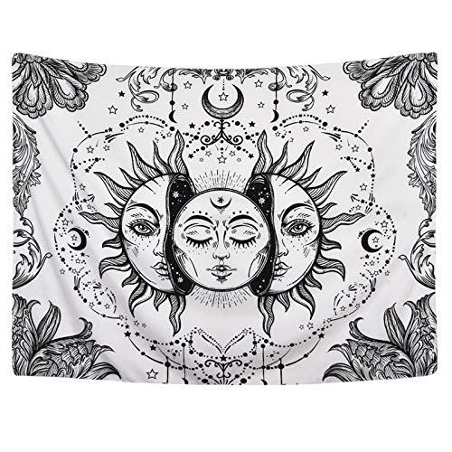 CNYG Moon Sun Tarot Series Tapiz Hippie Decoración para el hogar Tapiz Manta de Pared 6 95 * 73CM