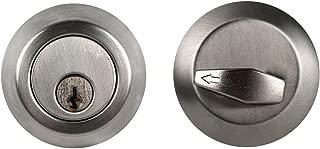 Global Door Controls Single Cylinder Commercial Deadbolt in Brushed Chrome