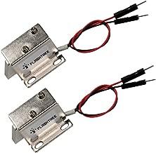 FlashTree 【2 Pcs】Mini Door Drawer Tongue Down Electric Lock Assembly Solenoid DC 12V Slim Design Lock