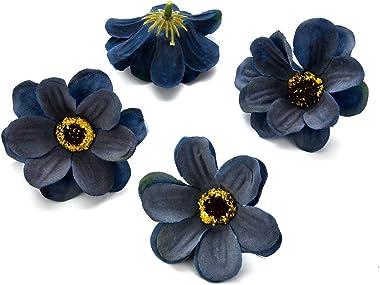 Fake flower heads in bulk wholesale for Crafts Silk Sunflower Daisy Peony Handmake Artificial Flower Heads Wedding Gifts Deco