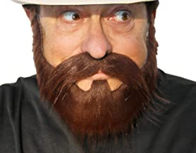 Hipster Beard Costume, Self Adhesive False Straggly Facial Hair Beard for Adults