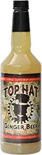 Top Hat Spicy Ginger Beer Syrup & Moscow Mule Mix (32oz Concentrate) - Makes 6 Quarts of Ginger Beer at Home - Works with ...