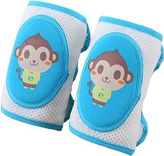 GZQ Rodilleras para Beb/és 6 pcs Protectores de Rodillas Esponja,Almohadillas de Rodilla Malla de Dibujos Mono para