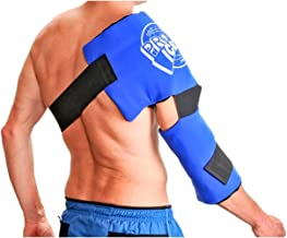 Pro Ice Adult Shoulder and Elbow Real Ice Pack Wrap Wearable Cryotherapy Support PI200