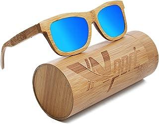 Ynport Crefreak Occhiali da Sole Unisex, con Struttura in Carbone di bambù; Occhiali da Sole Classici Rivestiti in Legno; ...