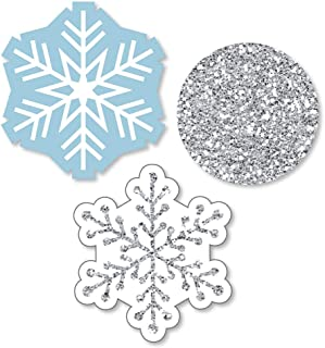 Big Dot of Happiness Winter Wonderland - Shaped Snowflake Holiday Party and Winter Wedding Cut-Outs - 24 Count