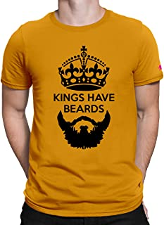 PrintOctopus Graphic Printed T-Shirt for Men | Beard T-Shirt | King T-Shirt | Half Sleeve T-Shirt | Round Neck T Shirt | 100% Cotton T-Shirt | Short Sleeve T Shirt