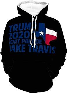 CAHANKO Trump 2020 Boat Parade Lake Travis Unisex Hoodie Casual Pullover Cool Sweatshirt Jacket