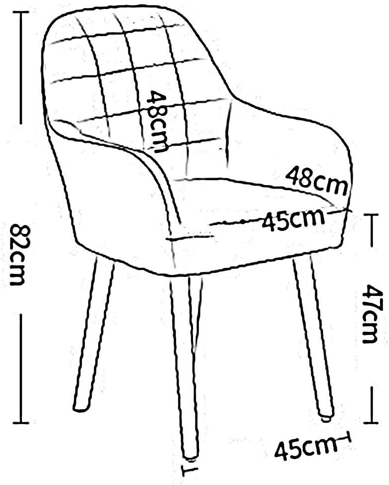 LLYU Salon moderne en tissu solide simple de salon de bureau de chaise de salon de bureau (Color : Blue) Blue