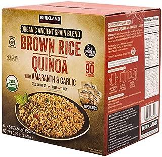 Kirkland Signature Organic Ancient Grain Blend: Brown Rice & Quinoa w/ Amaranth & Garlic Gluten Free/Vegan - 6 ct. (8.5 oz)