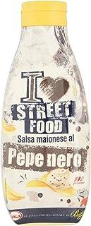 Gaia - I Love Street Food - Salsa Maionese al Pepe Nero - Flacone Squeeze - Pacco da 6 x 800 g