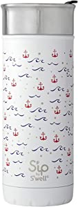 S'ip by S'well Stainless Steel Travel Mug-Anchor-Double-Layered Vacuum-Insulated Food and Drinks Cold and Hot-with No Condensation-BPA Free Water Bottle, 16 Fl Oz