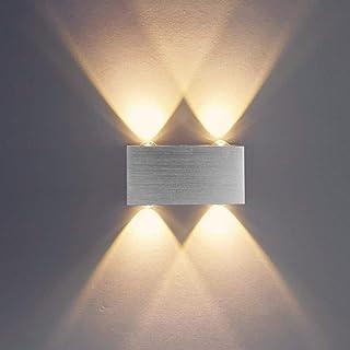 Louvra Apliques de Pared Lámpara de Pared en Moda de Puro Aluminio 4 LED 4W Iluminación de Pasillo Entrada Dormitorio ...
