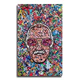 Animation Canvas Paintings Framed HD Canvas Prints Pop Art Poster Wall Art Decoration Super Heros Collection Comics Wall Decor for Home Office 16x24inch