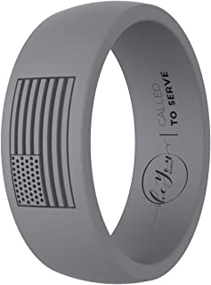Be You Bands American Flag Silicone Rings for Men - Called to Serve Edition