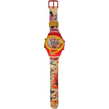 MEDIA WAVE store WD10436 Orologio da polso con orologio da comodino sveglia MICKEY MOUSE Disney