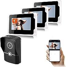 Tuya APP WiFi Videodeurbel, 7-inch monitor 1080P nachtzichtcamera Videodeurtelefoon, intercom, huisbeveiligingssysteem,1 c...