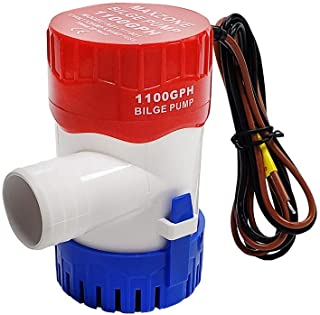 MAXZONE Submersible Boat Bilge Water Pump 12v 1100gph Non-Automatic Marine Electric Bilge Pump for Ponds, Pools, Spas Sile...