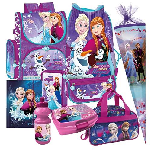 Frozen Anna ELSA Olaf EISKÖNIGIN 9 Teile Set Schulranzen Ranzen TORNISTER Tasche mit Sticker von kids4shop Federmappe Schultüte 85 cm