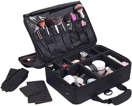 artículos de promoción WANGXN WANGXN WANGXN Bolsas de Maquillaje para Las mujeres cepillos Organizador Desmontable divisores Viaje Maquillaje Herramientas contenedor  diseñador en linea