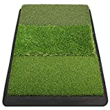 Champkey PRO Tri-Turf Golf Hitting Mat (Do Not Include Balls)| Heavy Duty Rubber Base Practice Mat Ideal for Indoor and Outdoor Practice