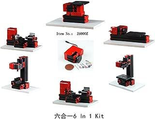XIAOF-FEN Interesting Motorized Mini Metal Working Lathe Machine DIY Tool 6 in 1 Basic Mini Machine Kit Box for Hobby Sience Education Modelmaking Wood-Turning Lathe