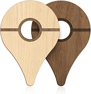 POKEWARES Shield for Pokemon GO Plus   Natural   Real Wood Cover Skin for Nintendo Accessory - PREORDER