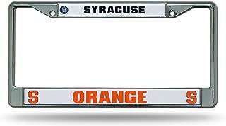Rico Industries NCAA Syracuse Orange Standard Chrome License Plate Frame