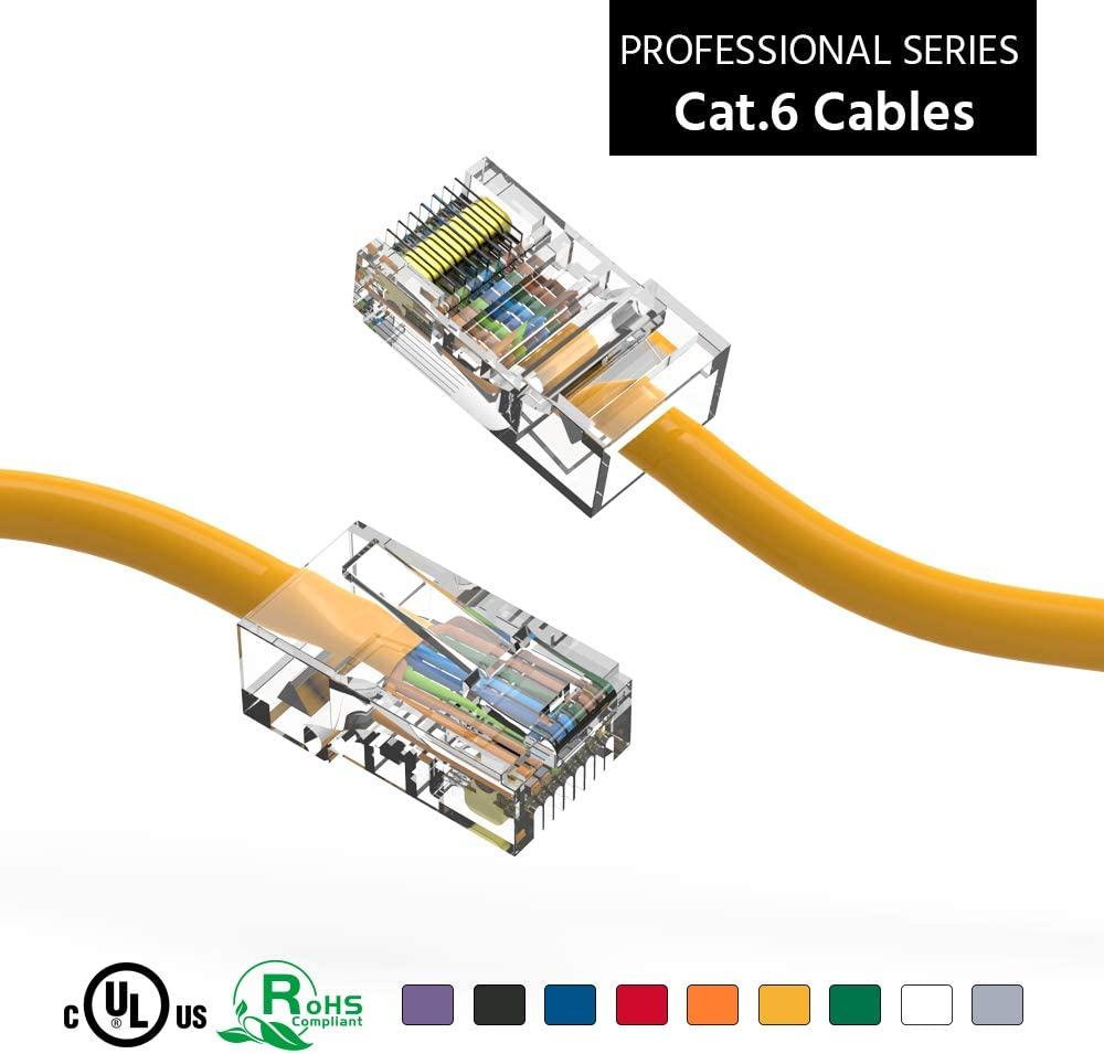 ACCL 75Ft Cat6 UTP Ethernet Network Recommendation Cable 3 Yellow Cheap SALE Start Non Booted P