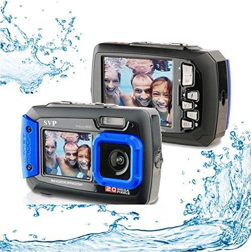 Orange VanGoddy Semi Hard Nylon Carrying Case for SVP Aqua 5800 Waterproof Digital Camera and Screen Protector
