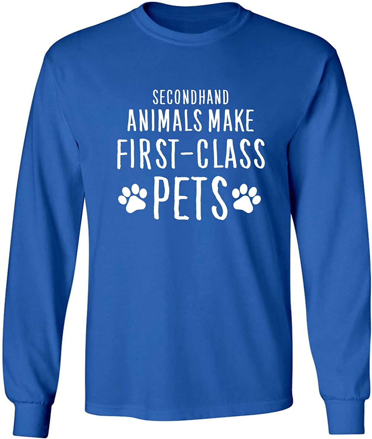 Secondhand Animals Adult Long Sleeve T-Shirt in Royal - XXXXX-Large