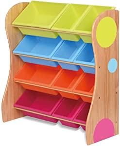 Yamyannie-Home Toy Storage Organizer With Color Plastic Bins Shelf Drawer For Kid s Bedroom Playroom  Color Primary color  Size 86cm