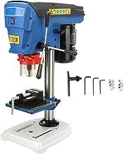 Taladro de Columna Eléctrico 500W 9 Velocidads Ajustable 280-2350RPM Soporte de Prensa de Taladro ángulo Ajustable para Madera, Plástico y Metal