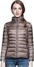 LHVUOA-Coat Womens Lightweight Down Jacket Winter Cloak Jackets Slim Long Sleeve Overcoats Outerwear