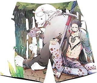 XIELH Men'S Beach Shorts, Loose Quick Dry Swim Trunks Drawstring Summer Short Pants For Men, Boys 3D Cartoon Anime Beach Shorts