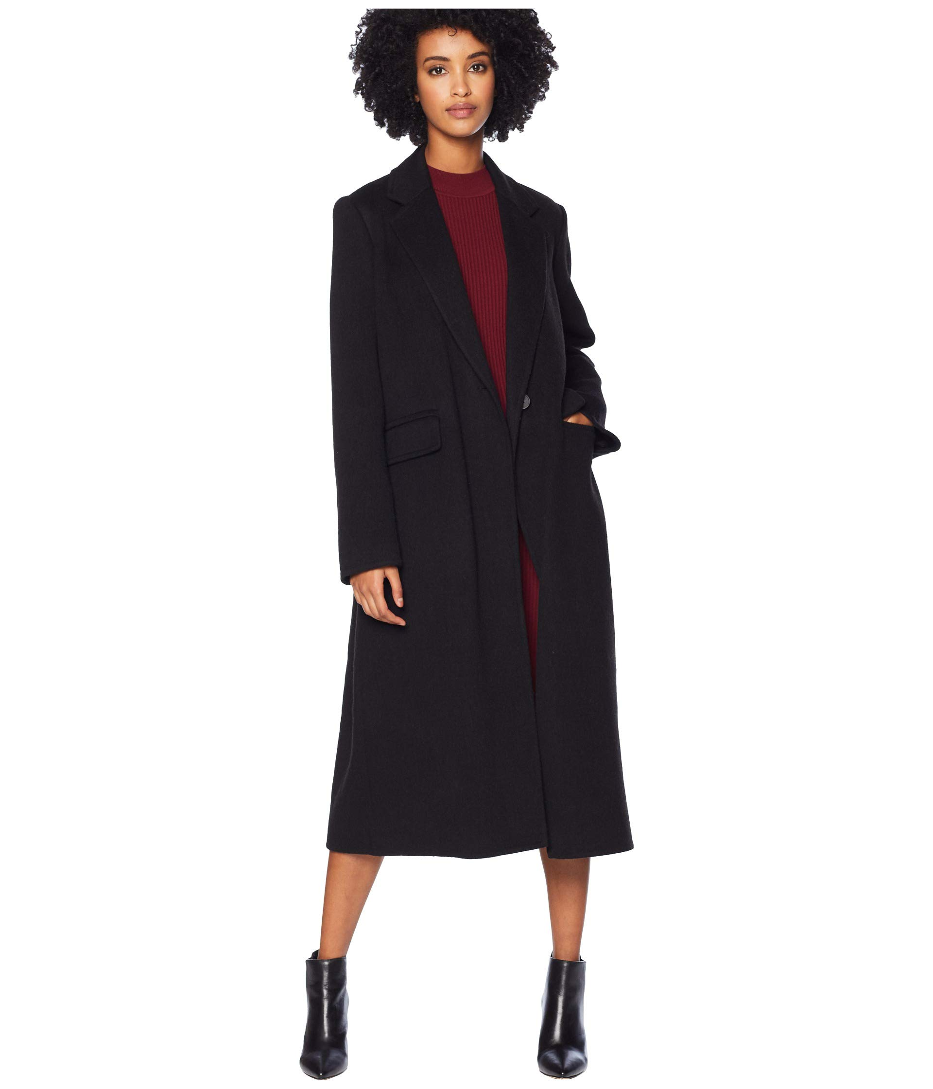 Long Vince Vince Coat Coat Long Black Vince Black Egq15Hn