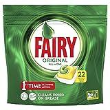 Fairy Original Tutto in Uno Detersivo in Caps per Lavastoviglie, Limone, 22 Lavaggi
