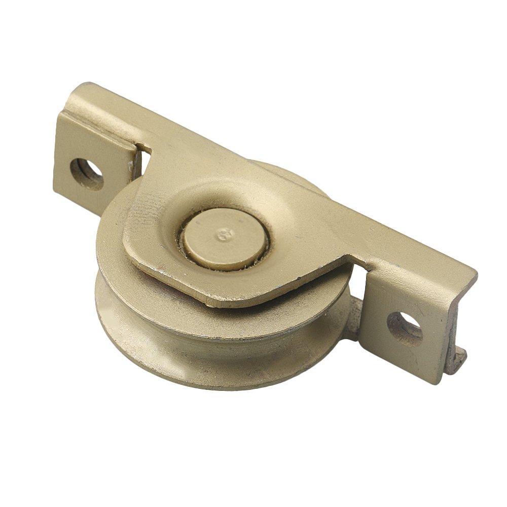 Yibuy - Rueda de Puerta corredera con Revestimiento de Zinc, Tipo U, para Armario Interior, 58x17mm/0.28x0.67inch(DxT): Amazon.es: Hogar
