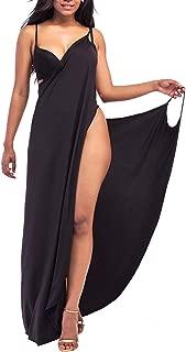 Women's Chiffon Bohemian Floral Printed Long Split Sleeve Beach Beachwear Bikini Swimsuit Cover up Dress
