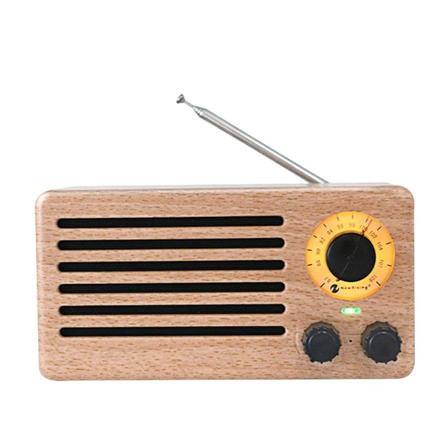 震え外科医巡礼者レトロなBluetoothスピーカー FMワイヤレスブルートゥーススピーカーラジオミニポータブルブルートゥース4.2ウッドラジオ音声プロンプト機能32ギガバイトのUSB付き防水ワイヤレスステレオレトロスピーカー 使い方が簡単 (色 : A)