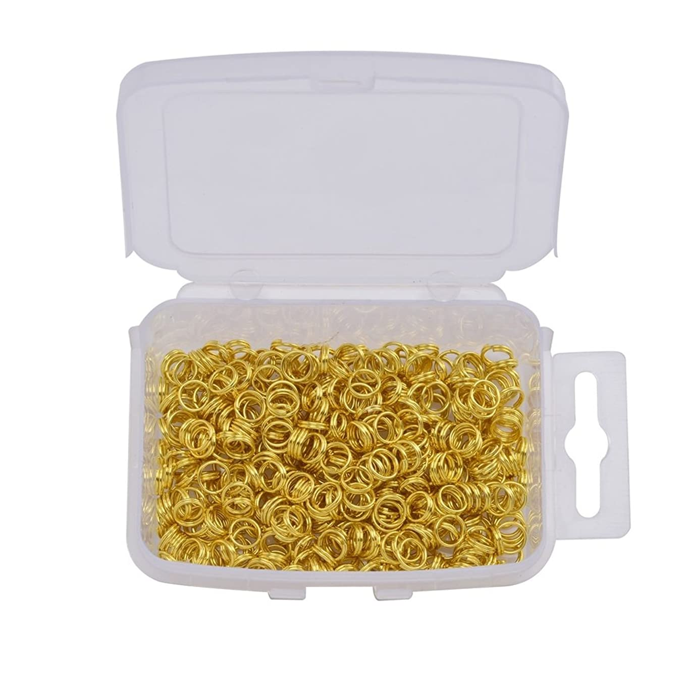 Yumei Jewelry 500 Pcs Gold tone Double Loops Round Split Jump Rings Wire Connector for Charms