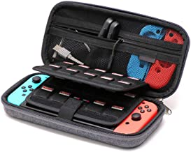 Soyan Shockproof Case for Nintendo Switch and Accessories, 19 Game Card and 2 Micro SD Card Holder (Gray)