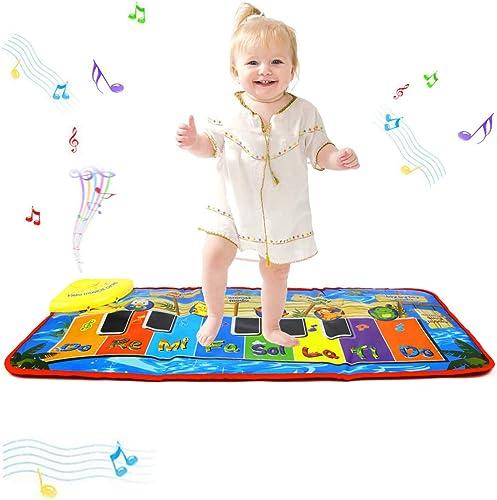 Tapis de jeu pour piano PROACC, Jouet de tapis de musique pour piano pour enfants, tapis de danse drôle de grande tai...