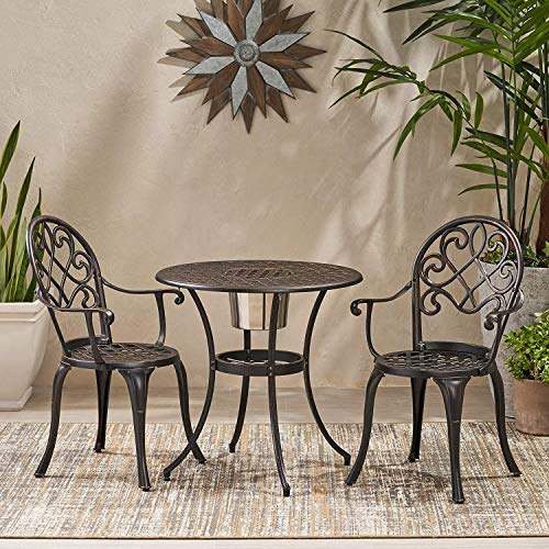 Dalkeyie European Style Garden Furniture Set 2 Seats, 3 Piece Patio Bistro Set, Outdoor Dining Furniture